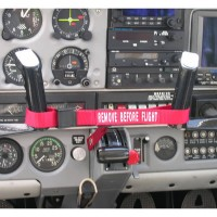 REMOVE BEFORE FLIGHT AIRPLANE CONTROL LOCK FOR MOONEY